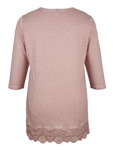 Miamoda Long Shirt With Lace