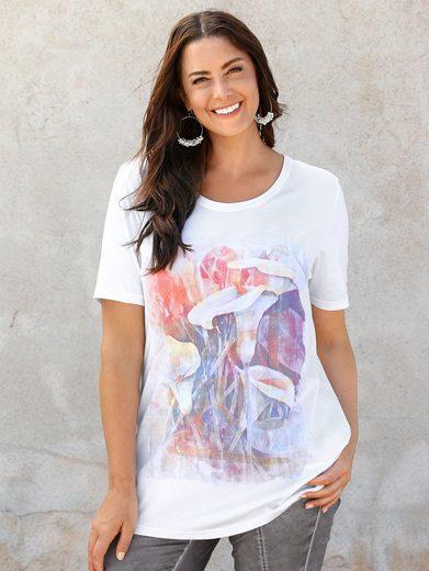 MIAMODA Shirt mit farbenfrohen Blütenmotiven