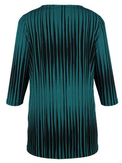 MIAMODA Slinky-Longshirt mit streckendem Druckmuster