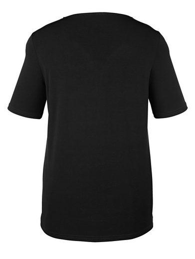MIAMODA Slinky-Shirt mit ausgefallenem Ausschnitt