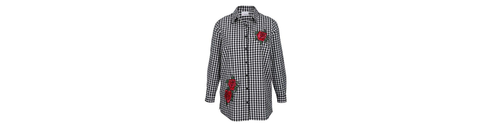 MIAMODA Bluse mit aufgestickten Rosenmotiven Kostenloser Versand LntWH5zyk