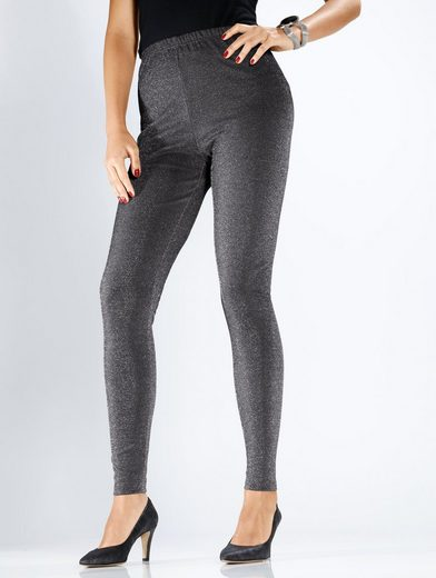 MIAMODA Leggings mit Glitzereffekt