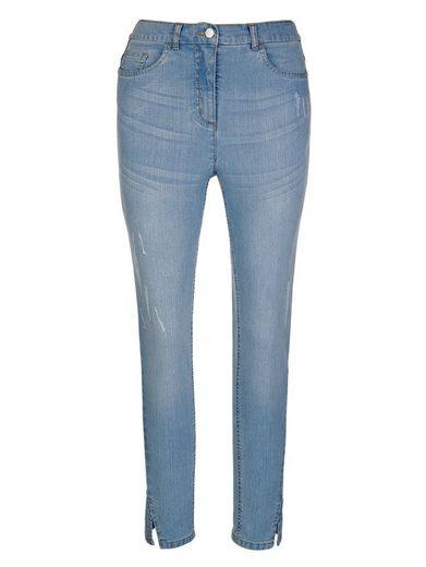 MIAMODA Jeans mit dezenten Destroyed-Effekten