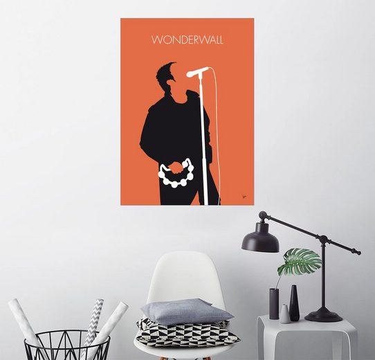 Posterlounge Wandbild - chungkong »No023 MY Oasis Minimal Music poster«