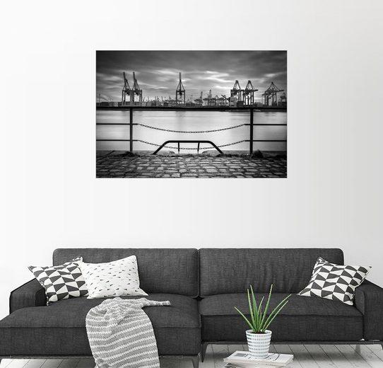 Posterlounge Wandbild - Sabine Wagner »Hafenkräne«