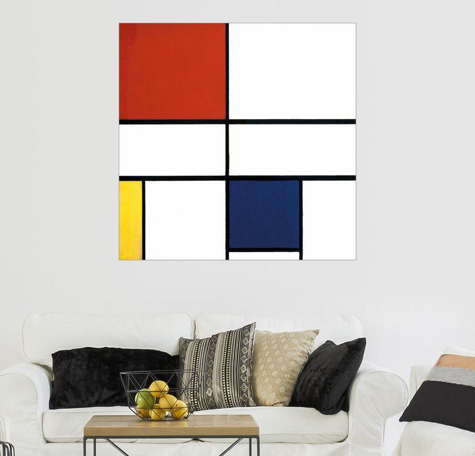posterlounge wandbild piet mondrian komposition c kein iii mit rot gelb und blau online. Black Bedroom Furniture Sets. Home Design Ideas
