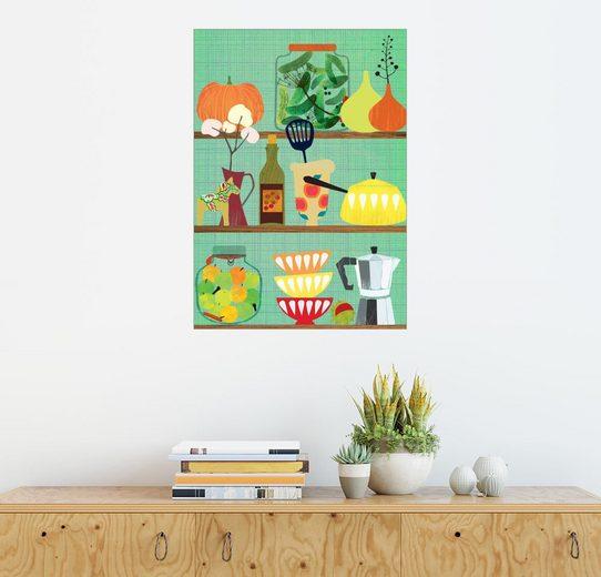 Posterlounge Wandbild - Elisandra Sevenstar »kitchen shelf 02«