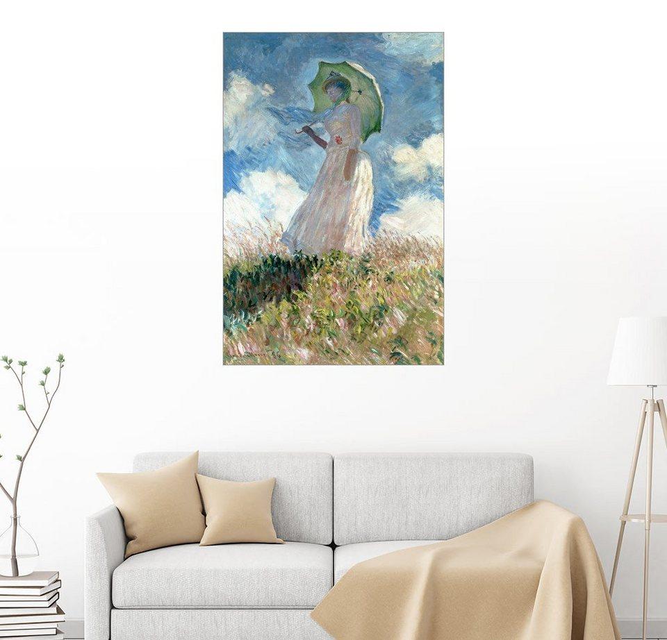 Posterlounge Wandbild Claude Monet Frau Mit Sonnenschirm Nach
