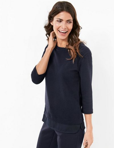 Gerry Weber T-shirt 3/4 Arm 3/4 Arm Sweater With Chiffon Edge