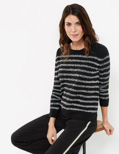 Gerry Weber Pullover Long Sleeve Crew-neck Sweater With Contrasting Stripes