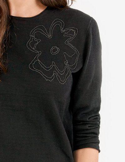 Gerry Weber Pullover Langarm Rundhals Pullover mit Stickerei