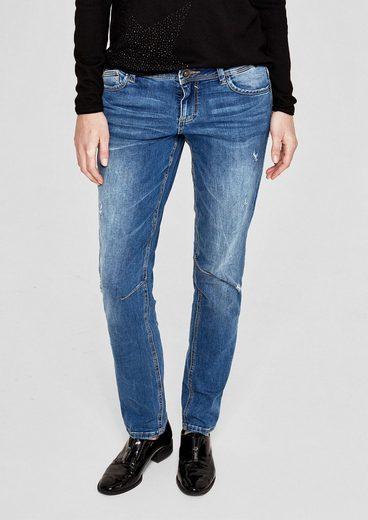 s.Oliver RED LABEL Shape Slim: Bluejeans im Used-Look
