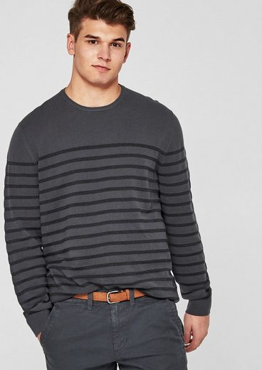 s.Oliver RED LABEL Pullover mit Streifenstruktur