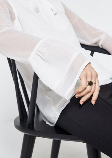 COMMA Zarte Bluse mit besonderen Details