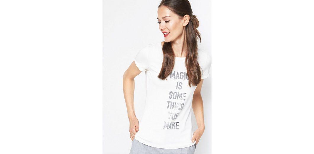 Erscheinungsdaten Günstig Online COMMA Kurzarmshirt mit Statement-Print Billig Verkauf Footlocker VXyrby