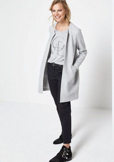 COMMA Jerseyshirt mit glitzernder Zierstein-Applikation