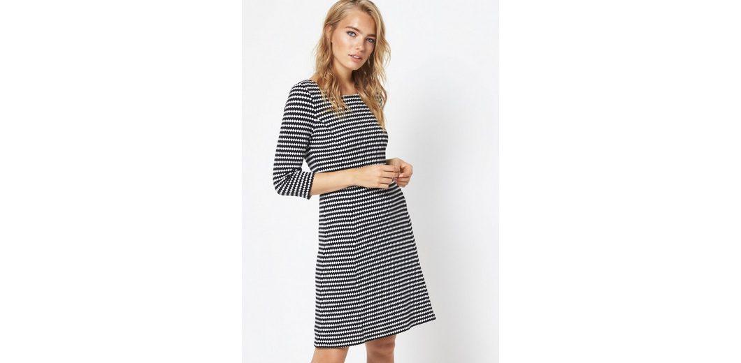 Viele Arten Von Freies Verschiffen Sneakernews COMMA 3/4-Arm Kleid mit Two Tone-Strukturmuster Niedriger Preis Versandgebühr u7OBH