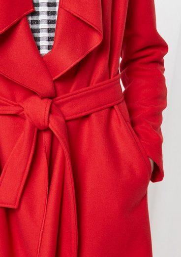 COMMA Weicher Mantel mit Stoffgürtel
