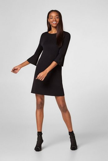Esprit Jersey Dress With Trumpet Sleeves