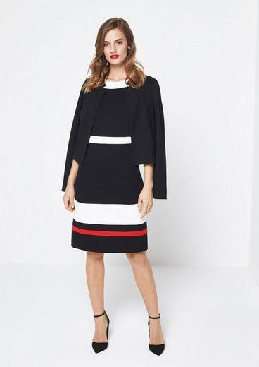 COMMA Elegantes Abendkleid mit Blockstreifen