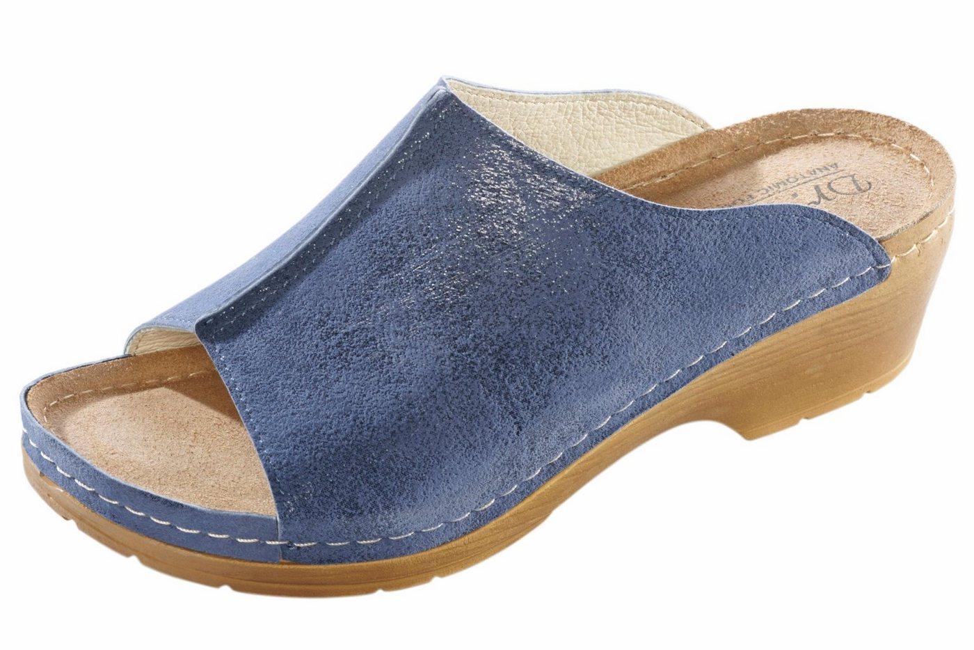 heine home Clogs mit Leder-Innensohle | Schuhe > Clogs & Pantoletten > Clogs | Blau | heine home