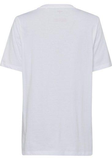 minimum Oversize-Shirt, mit Schriftzug in Samtoptik