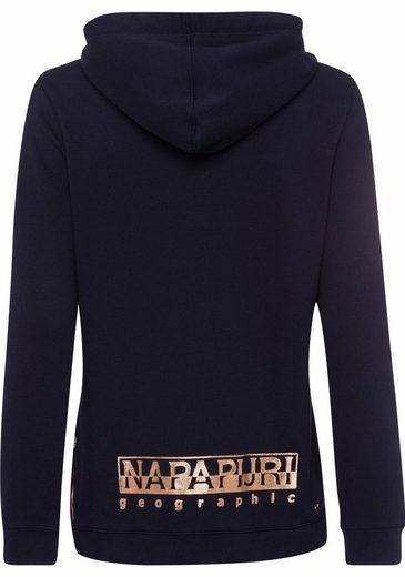 Napapijri Kapuzensweatshirt BACAU, mit Metallicprint