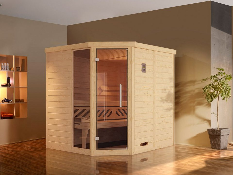weka sauna brevik 1 188 188 199 cm 45 mm 7 5 kw bio kombiofen online kaufen otto. Black Bedroom Furniture Sets. Home Design Ideas