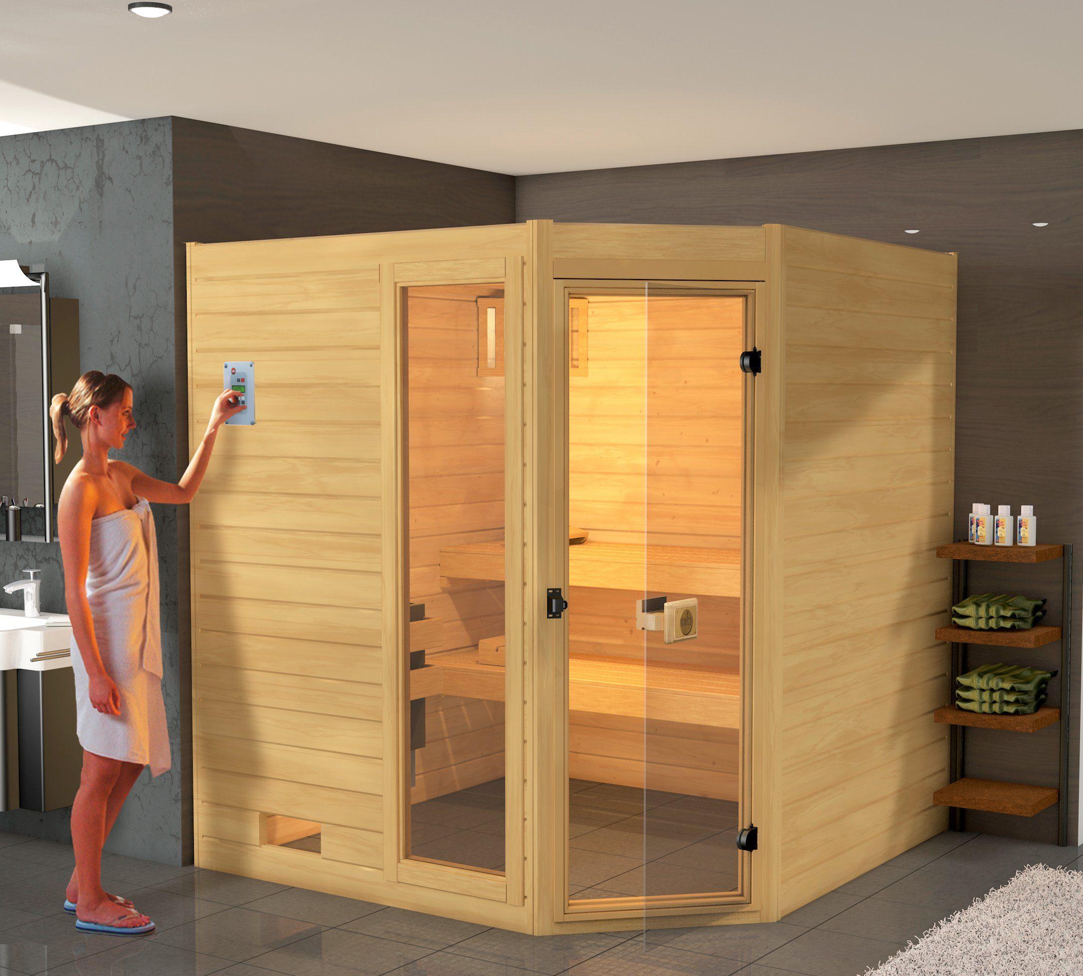 WEKA Sauna »Lars Eck 1«, 187/137/203,5 cm, 7,5-KW-Kombiofen
