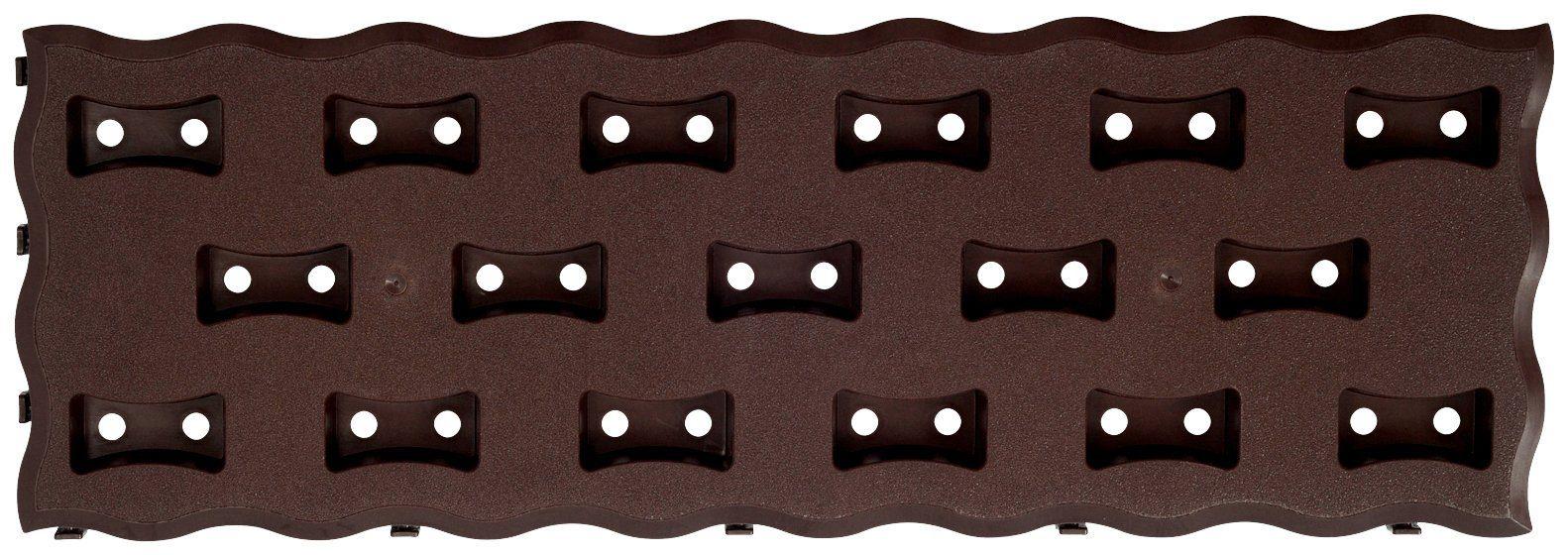 PROSPERPLAST Beetplatte »Pad R222«, LxBxH: 60x20x2,5 cm, dunkelbraun