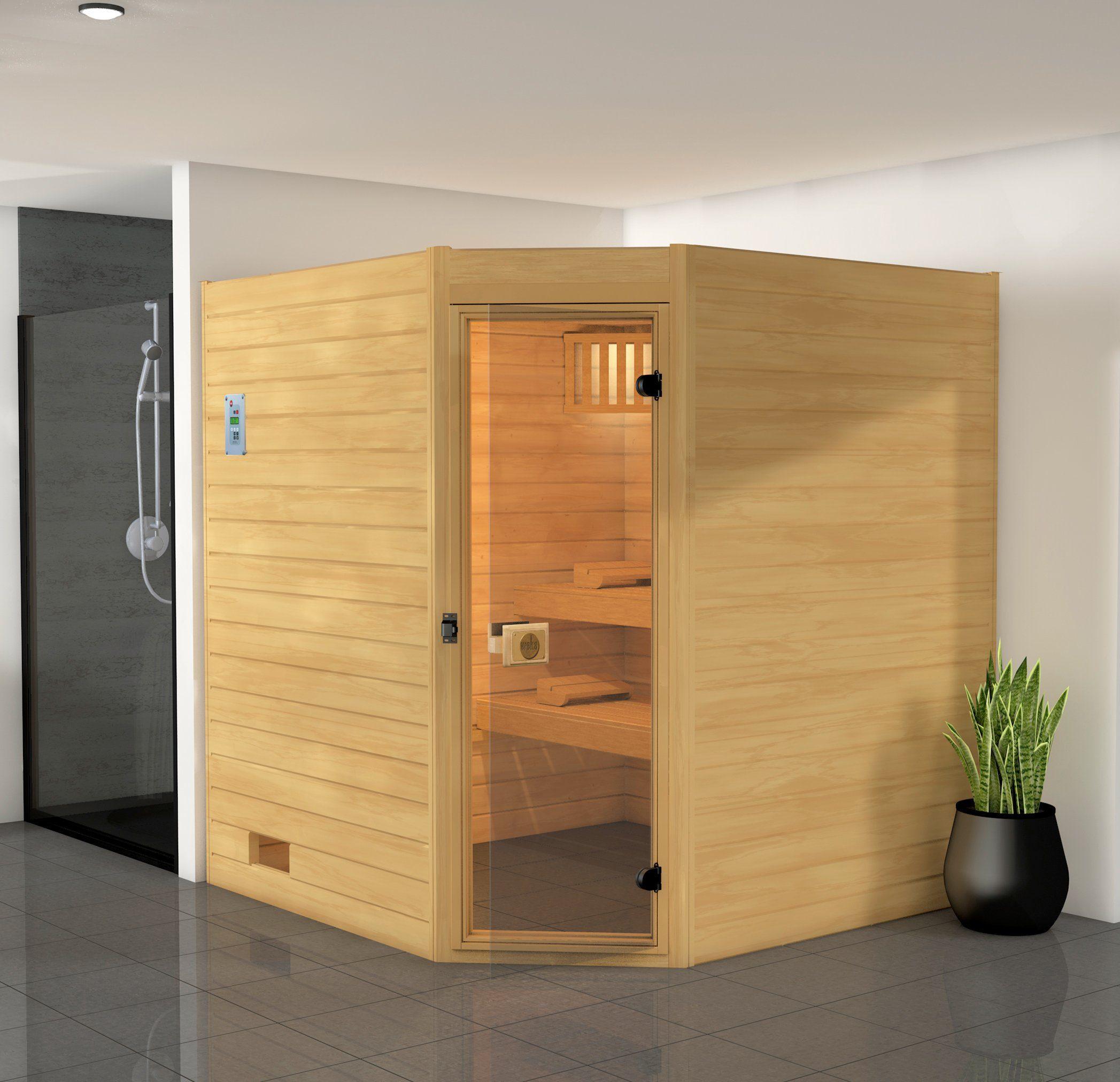WEKA Sauna »Vaasa 2«, 187x170x203,5 cm, 9-kW-Ofen mit int. Steuerung