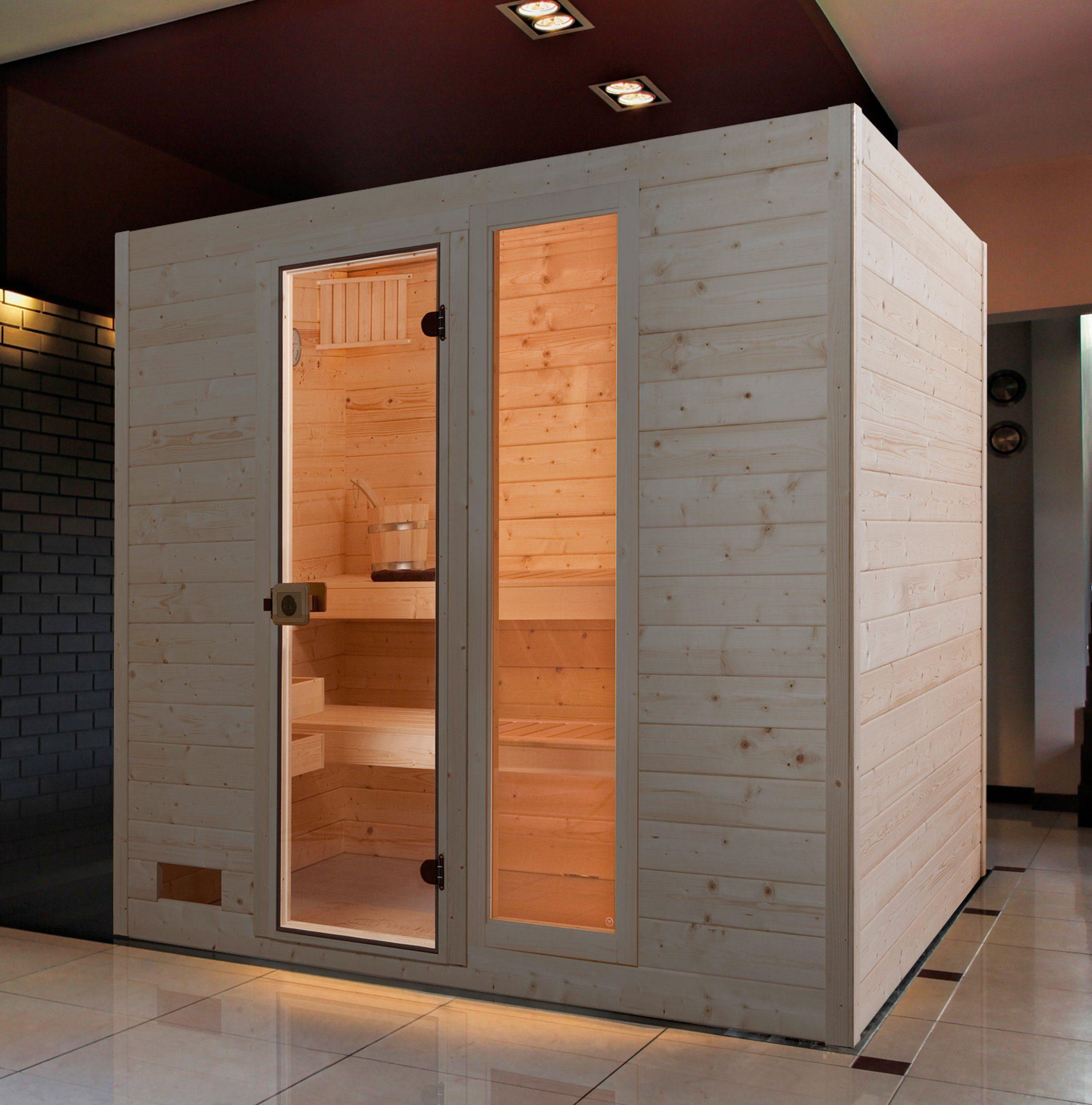 WEKA Sauna »Lars Trend 3«, 237x187x203,5 cm, 9-kW-Ofen mit int. Steuerung
