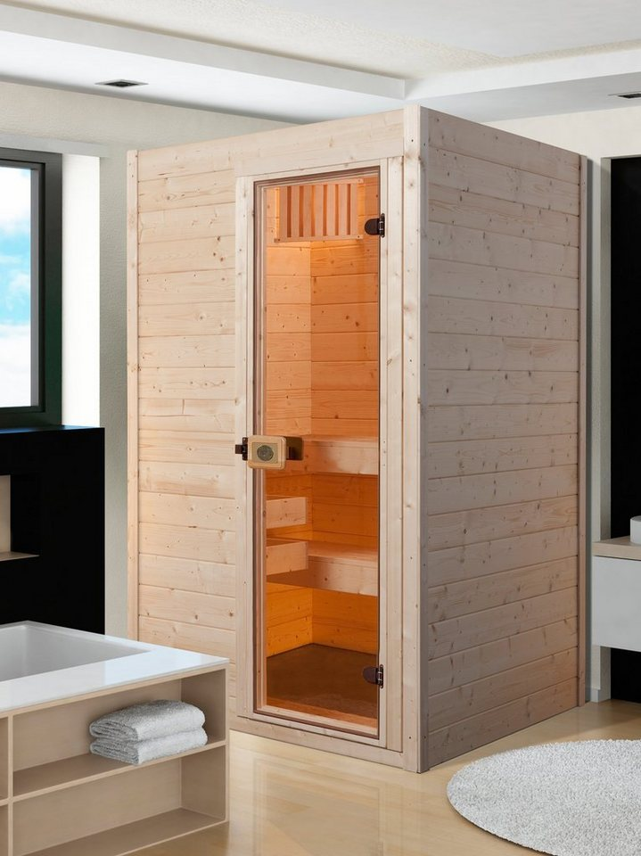 weka sauna vaasa 1 137 137 203 5 cm 38 mm 3 6 kw ofen online kaufen otto. Black Bedroom Furniture Sets. Home Design Ideas