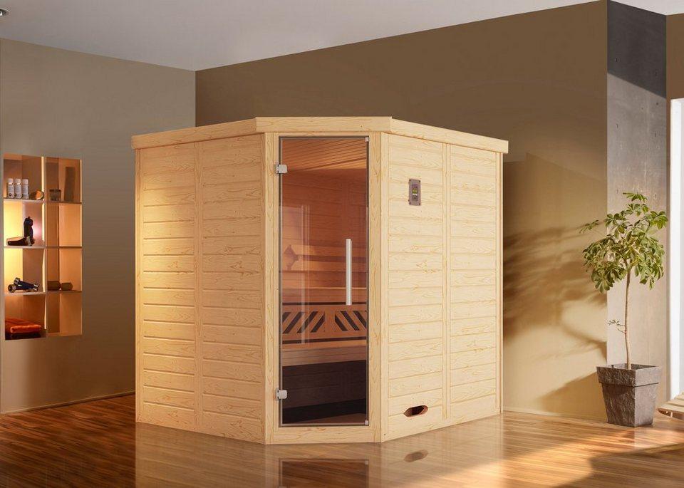 weka sauna brevik 1 188x188x199 cm 7 5 kw ofen mit ext steuerung online kaufen otto. Black Bedroom Furniture Sets. Home Design Ideas