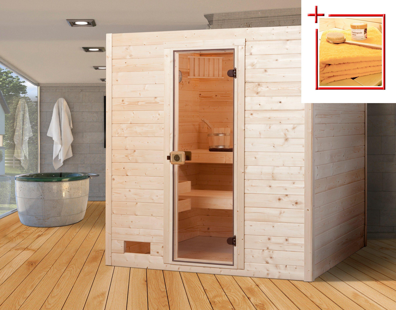 Weka Sauna »Vaasa 2«, 187/170/203,5 cm, 38 mm, 7,5-KW-Kombiofen