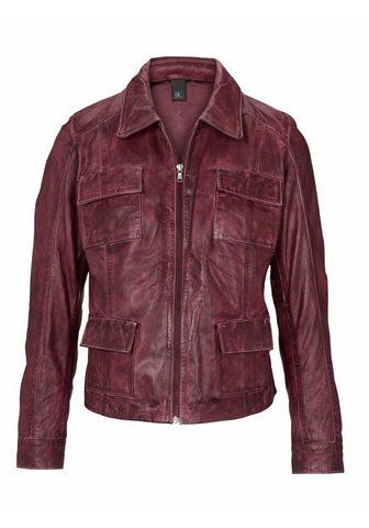 HEINE CASUAL куртка кожаная с Antik-Finish