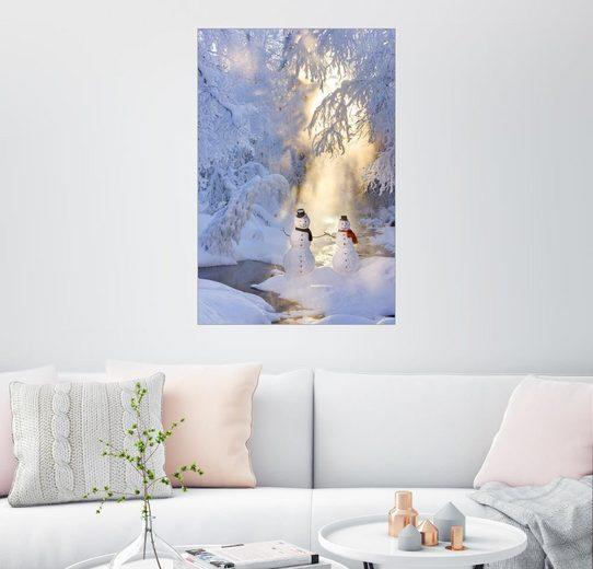 Posterlounge Wandbild - Kevin Smith »Schneemannpaar«