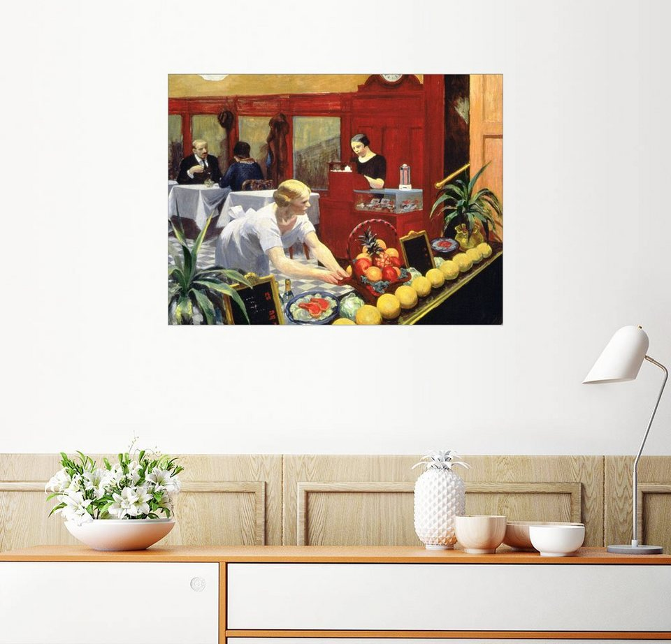 posterlounge wandbild edward hopper tische f r damen. Black Bedroom Furniture Sets. Home Design Ideas