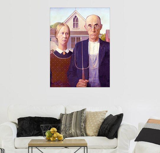 Posterlounge Wandbild - Grant Wood »American Gothic«