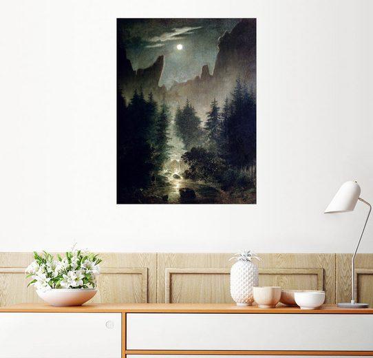 Posterlounge Wandbild - Caspar David Friedrich »Uttewalder Grund«