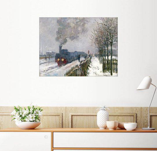 Posterlounge Wandbild - Claude Monet »Zug im Schnee (Die Lokomotive)«