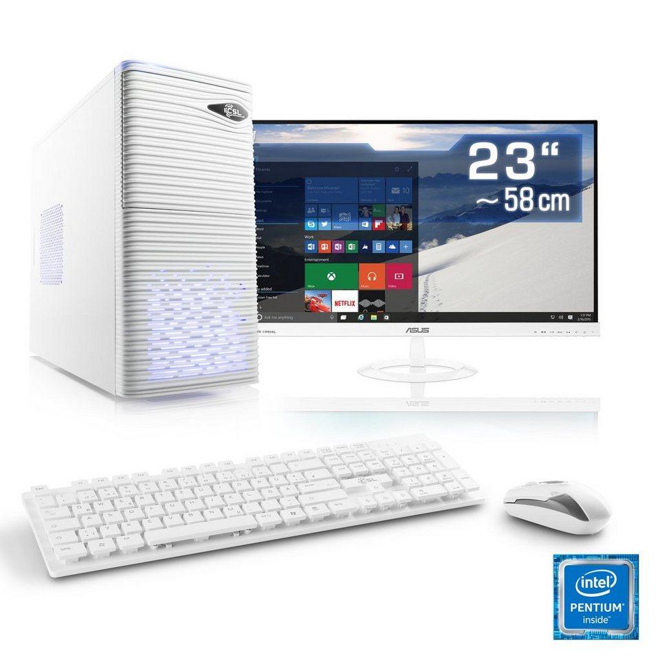 csl multimedia pc set intel g4560 hd 610 8 gb ram. Black Bedroom Furniture Sets. Home Design Ideas