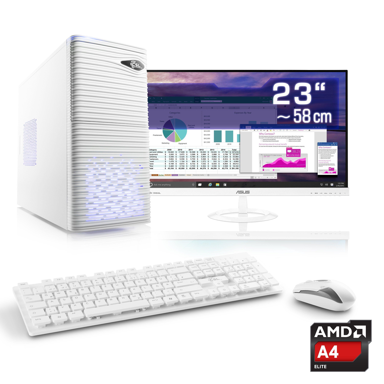 "CSL Office PC Set | AMD QuadCore | Radeon HD | 8 GB RAM | 23"" TFT »Sprint T2815 Windows 10 Home«"