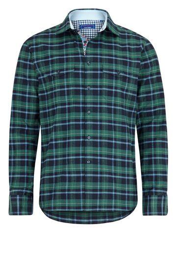East Club London Langarmhemd mit Ellenbogen-Patches