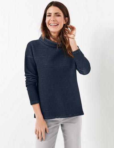 Gerry Weber T-Shirt 1/1 Arm Sweatshirt mit lockerem Stehkragen