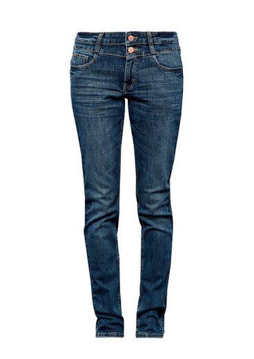 Q/S designed by Catie Slim: Jeans mit Doppelknopf
