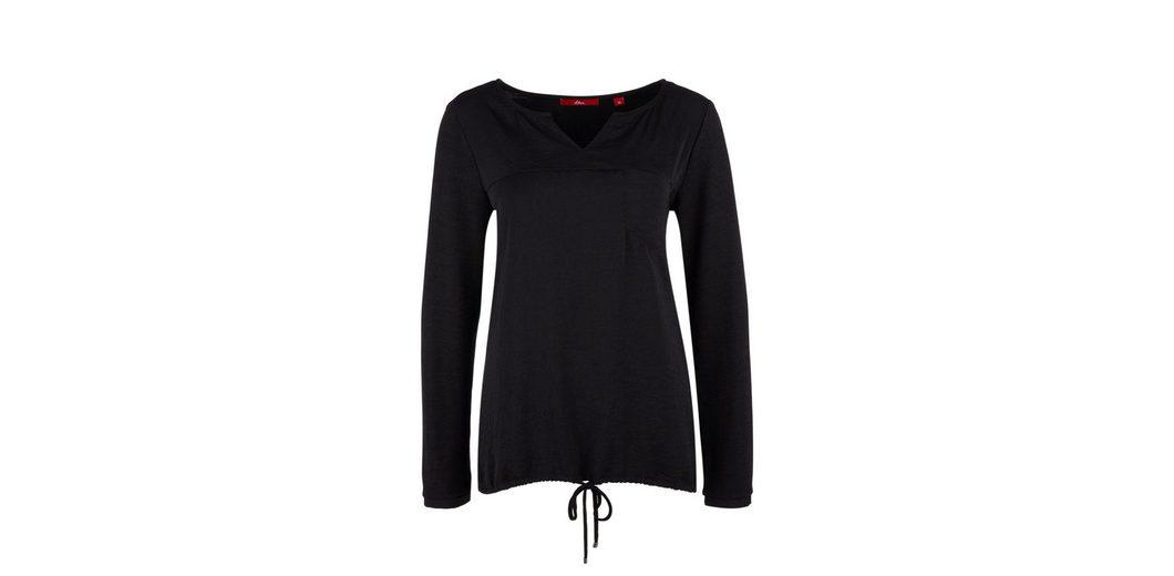 Footlocker Online s.Oliver RED LABEL Materialmix-Shirt mit Tunnelzug Billig Verkauf Echt Verkauf Neuer lA6XyrcrRz