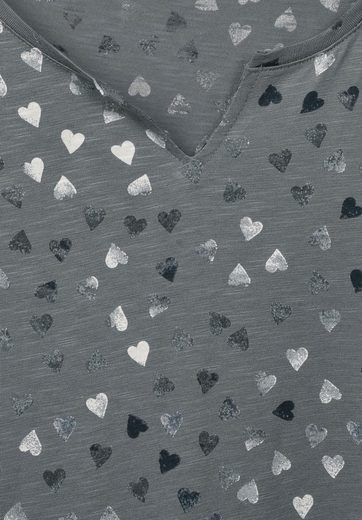 CECIL Shirt mit allover Herzprint