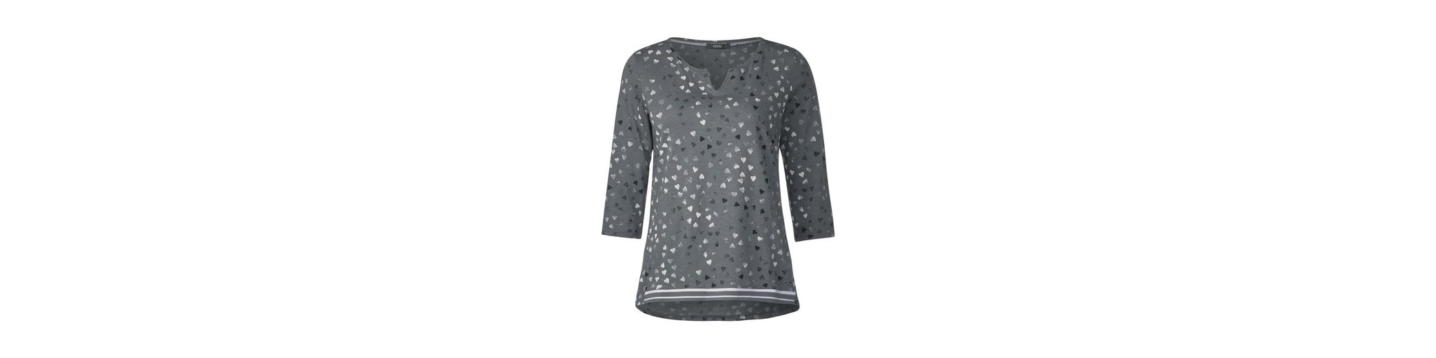 CECIL Shirt mit allover Herzprint Neu Werden Offizielle Seite Online y5n7ney