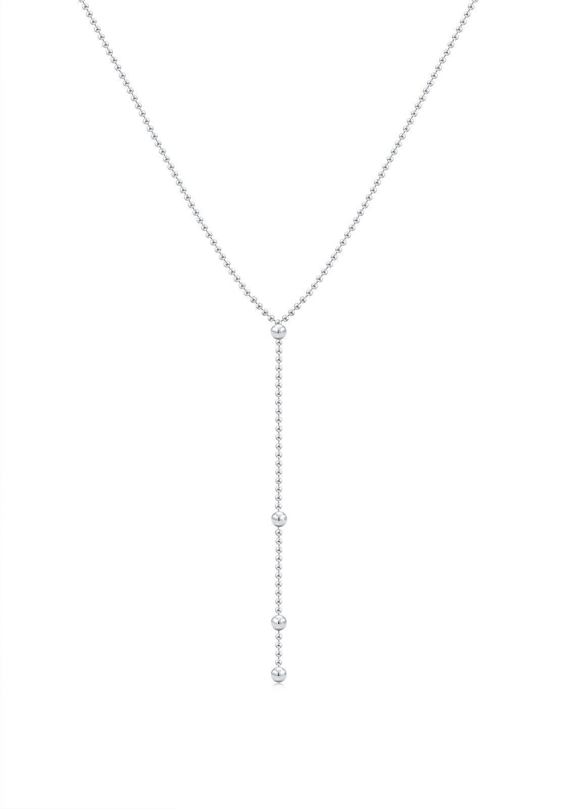Elli Halskette »Y-Kette Kugel Geo Trend Minimal 925 Silber Cami«